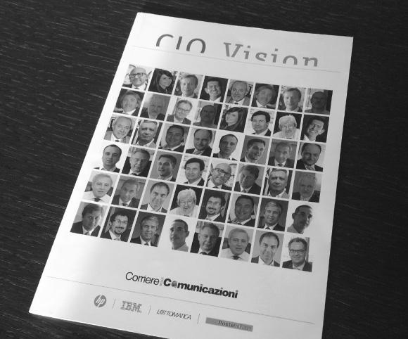 CIO Vision - Libro che raccoglie 24 interviste a CIO di grandi aziende realizzate da Dario Banfi