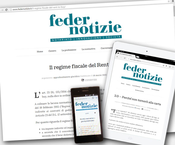 Federnotizie - Sito responsive by Dario Banfi