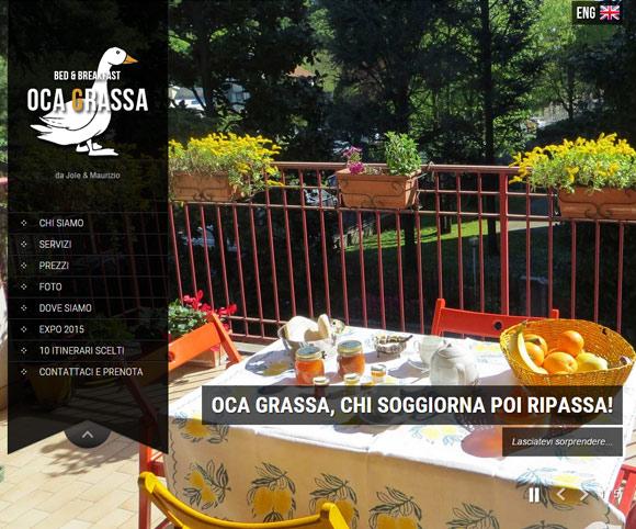 Sito Oca Grassa - Bed & Breakfast realizzato da Dario Banfi