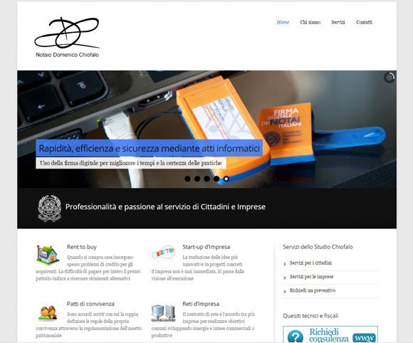 Presentazione dei servizi e delle specializzazioni del Notaio Chiofalo