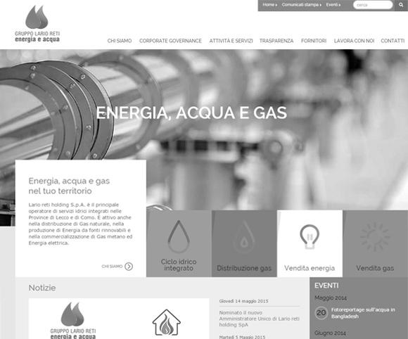Il sito di Lario Reti Holding
