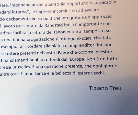 Scrittura dell'introduzione alla Guida Over 50  (a firma Tiziano Treu)