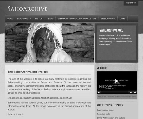 SahoArchive.org - Sito Web dedicato alla lingua Saho parlata in Etiopia ed Eritrea