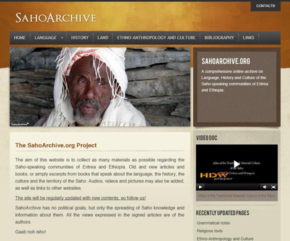 Saho Archive - Progetto culturale internazionale dedicato alla lingua Saho