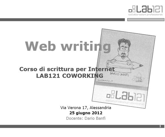 Corso di Web Writing a cura di Dario Banfi