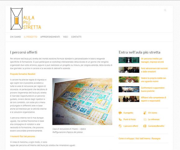 Copywriting, Web e Foto per il progetto Aula più stretta del mondo