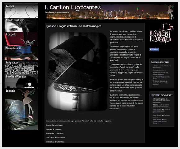 """Sito """"Il Carillon Luccicante"""" creato da Dario Banfi nel 2010"""
