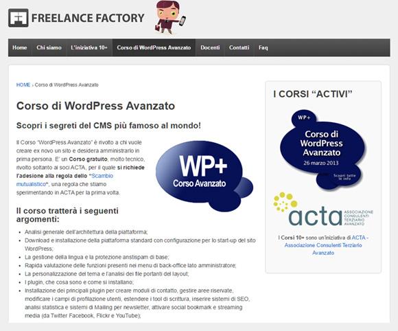 WordPress Avanzato - Corso su come installare WordPress e funzionalità avanzate