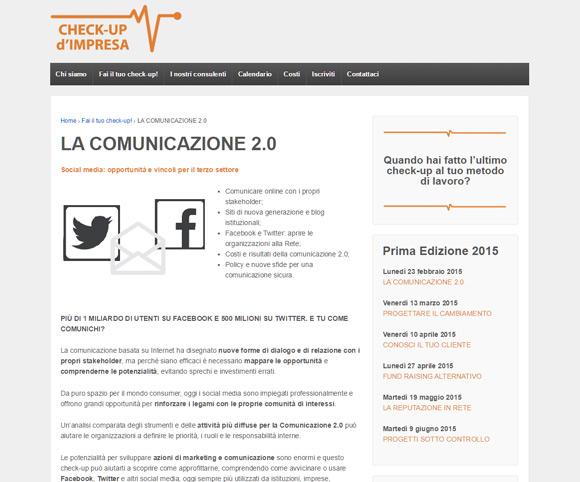 Comunicare al tempo del Web 2.0 - Corso di formazione di Dario Banfi