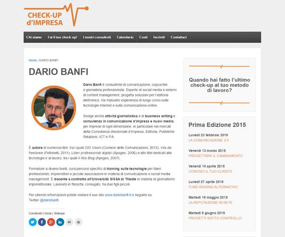 Dario Banfi docente di corsi su comunicazione, social media, reputazione, Web 2.0
