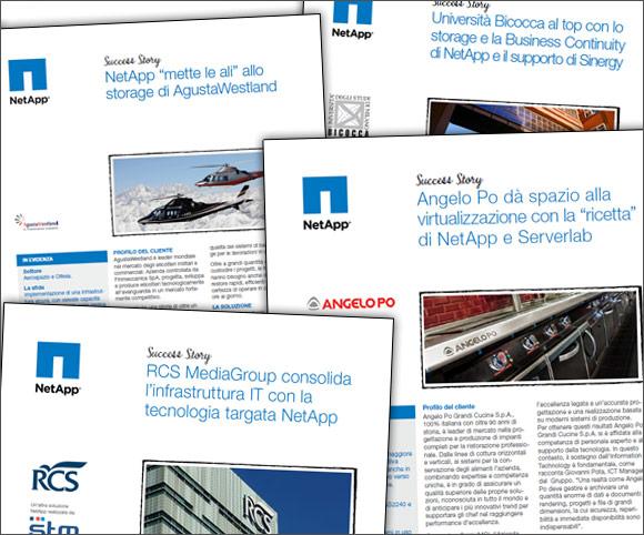 Copywriting e impaginazione Casi di Studio per la società NetApp