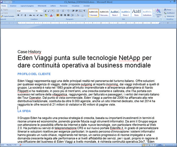Interviste e copywriting per produrre casi di studio in ambito ICT