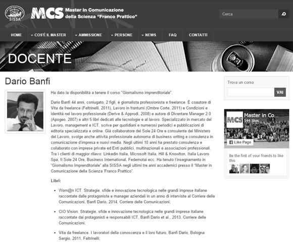 Master in Comunicazione della Scienza - SISSA Trieste