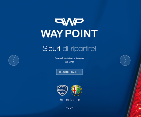 Sito Web di Way Point : copywriting a cura di Dario Banfi