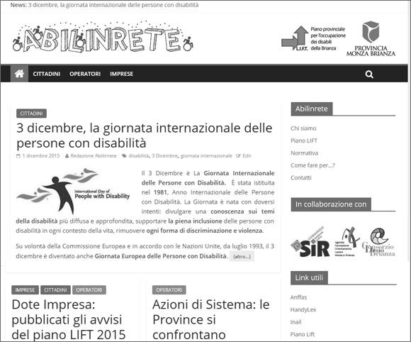 Progetto Abilinrete - Dario Banfi