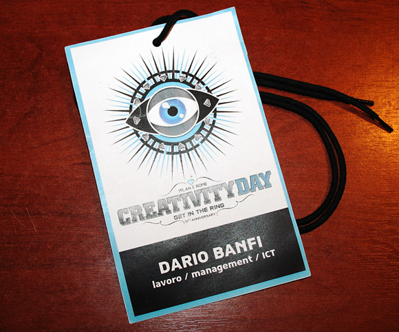 Talk di Dario Banfi al Creativity Day