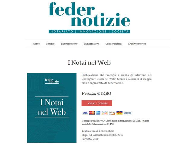 Negozio online di Ebook per notai creato da Dario Banfi