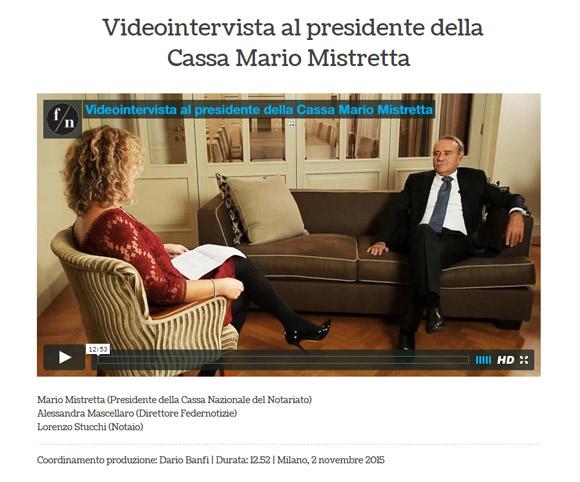 Interviste video per testate online - Federnotizie - Dario Banfi