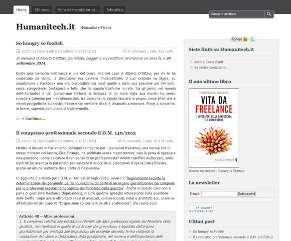 Tecnologie e lavoro su Humanitech.it