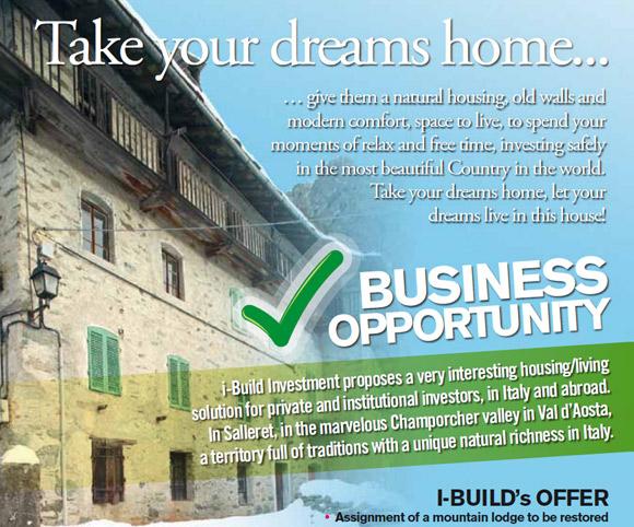 Brochure pubblicitaria per vendita immobile all'estero