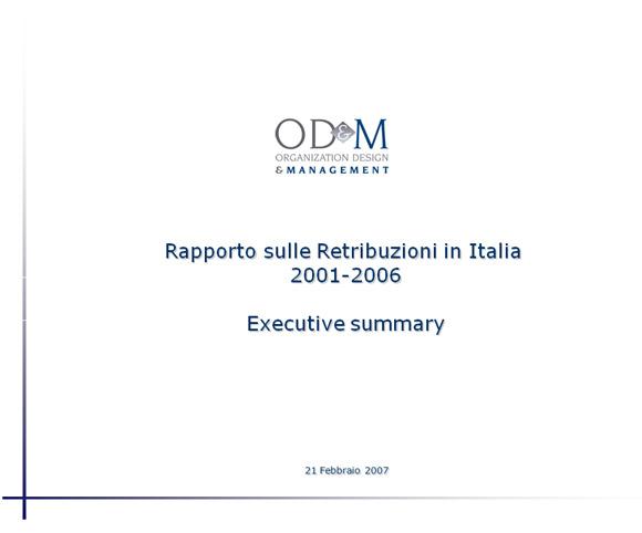 I rapporti di OD&M Consulting sulle retribuzioni degli Italiani