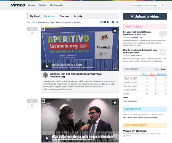 SMM Canale Vimeo Federnotizie