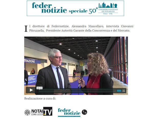 Produzione di video-interviste - Redazione di Federnotizie