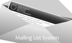Mailing system per associazione