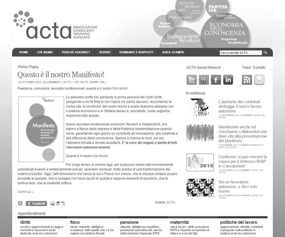 Sito ACTA - Restyling a cura di Dario Banfi