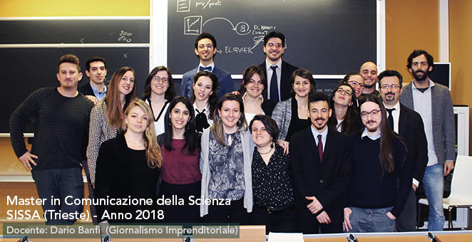 Master in Comunicazione della Scienza - SISSA - Trieste 2018