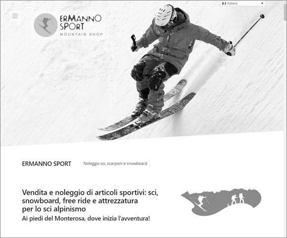 Ermanno Sport - Sito Web realizzato da Dario Banfi