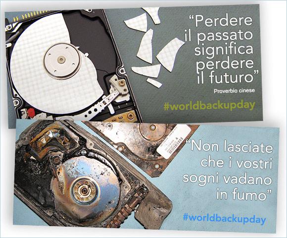 Campagne ADV su Facebook per Ontrack Italia in occasione del World Backup Day