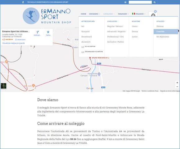 Mappa interattiva - Da dispositivo mobile manda su GMap e intinerario GPS