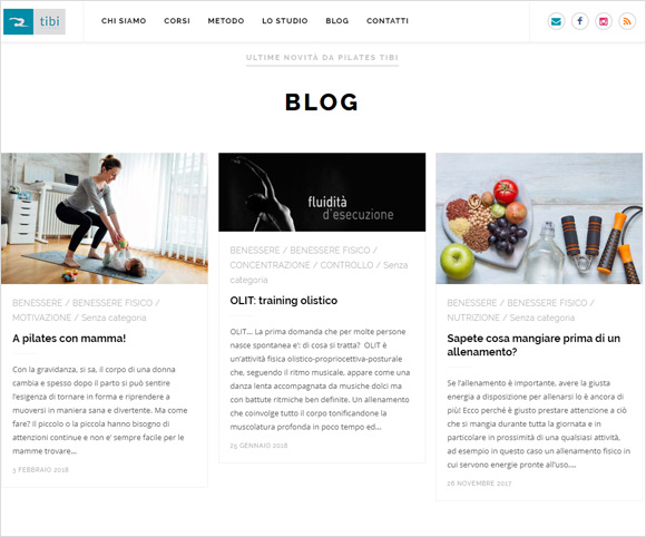 Blog di pilates e salute a cura di Maria Valeria D'Amico