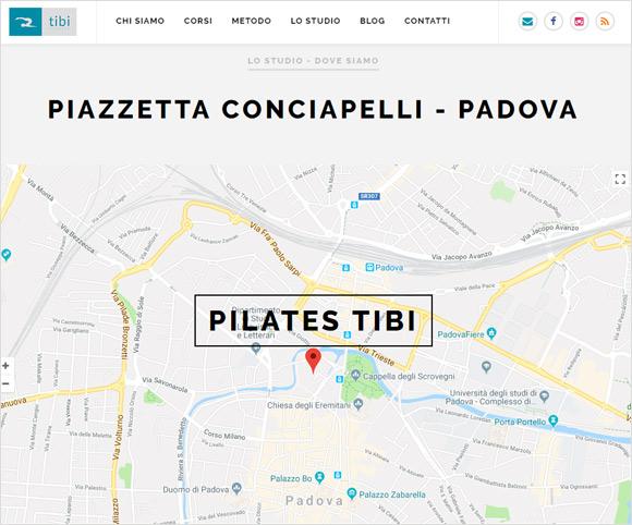Mappe, moduli di contatto e informazioni sul tuo sito sportivo