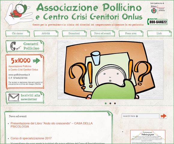 Pollicino Onlus - Sito prima del restyling