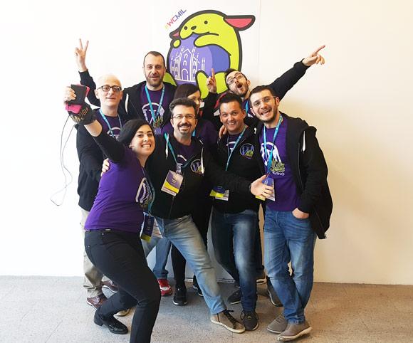 Il mitico team degli organizer di WordCamp Milano 2017