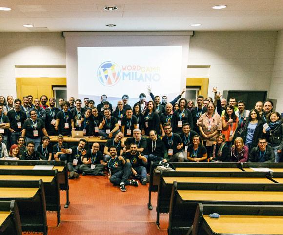 Università Bicocca e i volontari di WordCamp Milano 2016