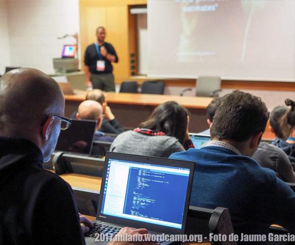 Una sessione dei talk di WordCamp Milano 2017