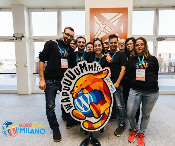 Il team degli organizer di WordCamp Milano 2016