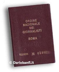 Tesserino Giornalista Professionista - Dario Banfi