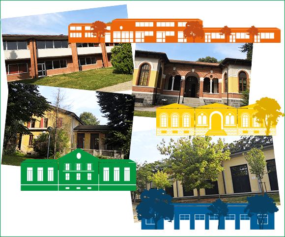 Studio grafico con stilizzazione degli edifici a partire da fotografie