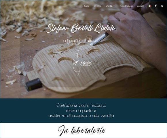 Sito Web per artigiani - Immagini di prodotti e laboratorio artigiano