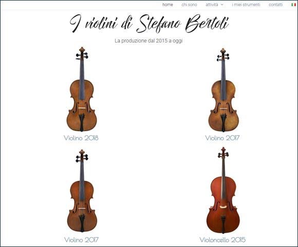 Viole violini violoncelli fatti a mano - Un sito Web per pubblicizzarli