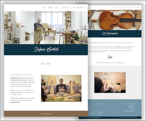 Artigiano italiano che costruisce violini - Stefano Bertoli