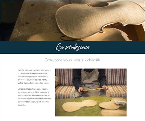 La produzione artigianale di Stefano Bertoli - Web design by Dario Banfi