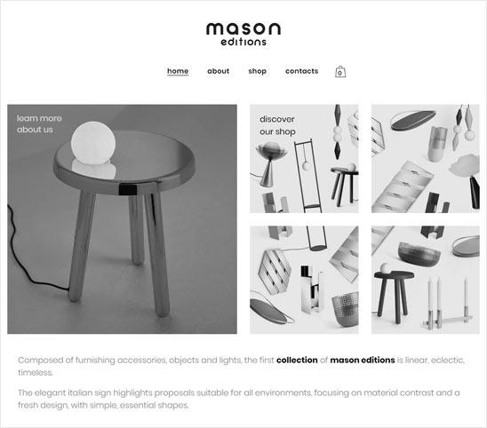 Mason Editions - Sito di ecommerce creato da Dario Banfi