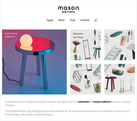 Vendita online di prodotti di design