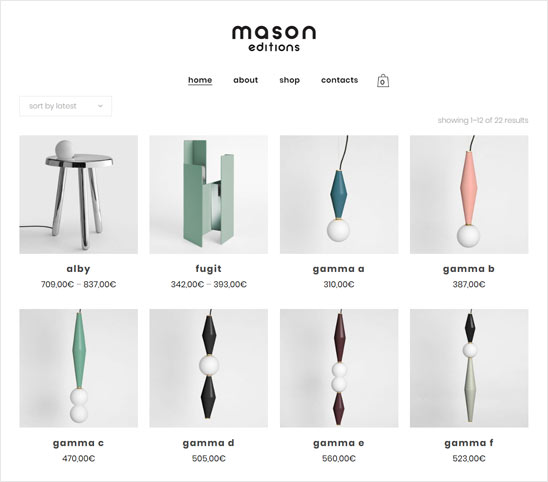 Shop design products - Mason Editions