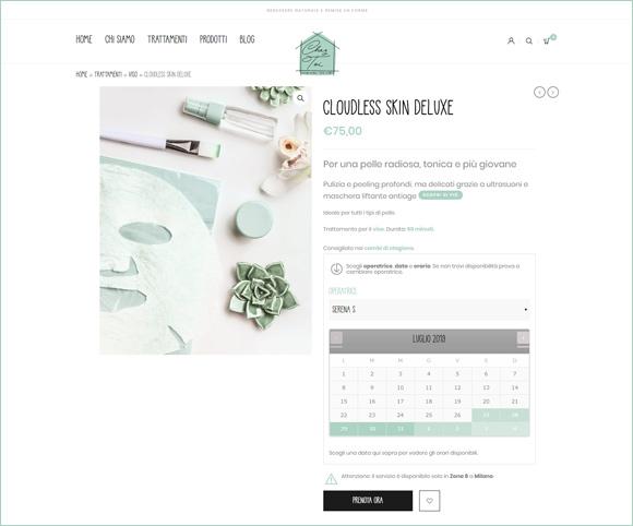 Calendario prenotazioni ed e-commerce